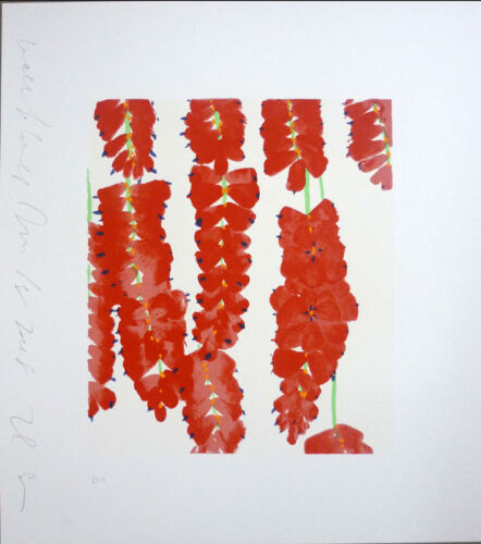DONALD SULTAN 'Red Wall Flowers (Rows)' SIGNED Silkscreen Print Limited Edition