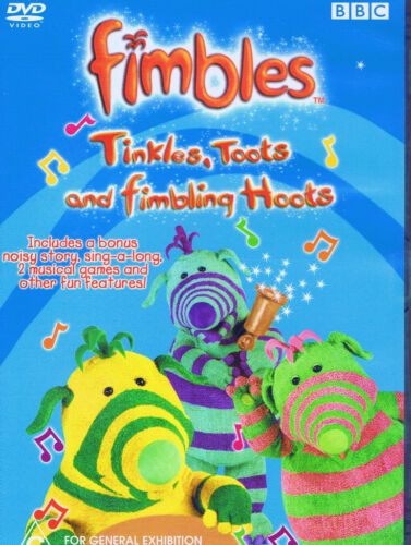 BBC Fimbles - Tinkles, Toots and Fimbling Hoots - R4 DVD brand new no plastic
