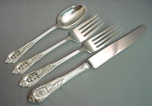 ROSE POINT - WALLACE STERLING 4 PIECE PLACE SETTING(S)  *FRENCH BLADE*