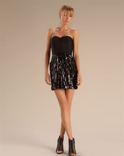 Pure Sugar Sequined Strapless Dress NWT