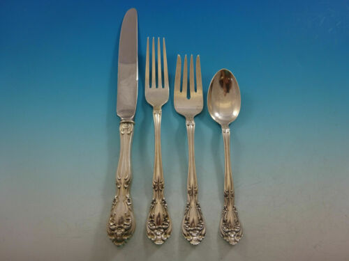 Chateau Rose by Alvin Sterling Silver Regular Size Place Setting(s) 4pc