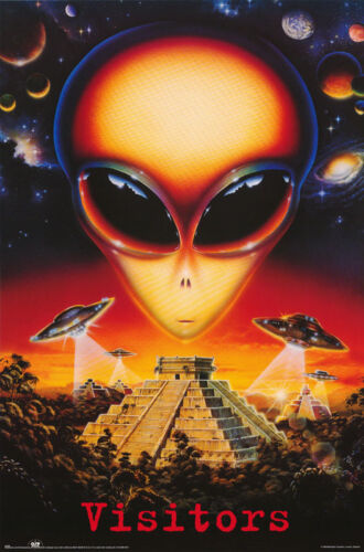 POSTER : SCIENCE FICTION : VISITORS - ALIENS -   FREE SHIPPING #3106  RW10 O