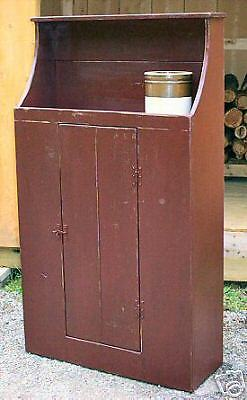 Primitive Handcrafted Step Back Cupboard (Woodstock)