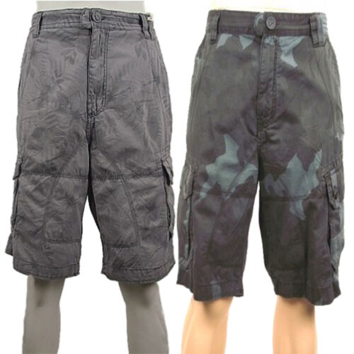 Next Mens New 3/4 Cotton Cargo Shorts Blue Camouflage Combat Camo or Grey Floral