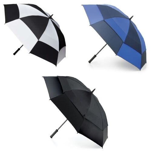 Fulton Storm Shield Mens Walking Length Double Canopy Umbrella High Quality