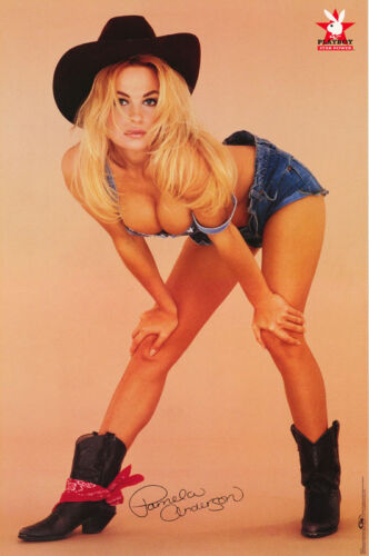 POSTER : PLAYBOY - PAM ANDERSON - SEXY COWGIRL - FREE SHIPPING ! #2749 RP59 H