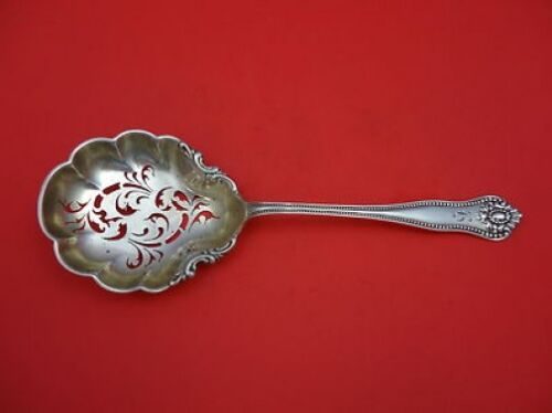 """Lexington by Knowles & Mount Vernon Sterling Silver Pea Spoon Goldwashed 9 1/8"""""""