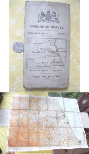 Vintage Map,ENGLAND & WALES,Ordnance Survey,Color,C.1920's