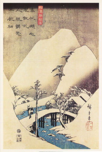 POSTER : ART : SNOWY LANDSCAPE  by HIROSHIGE - FREE SHIPPING ! #AP782 LC25  B