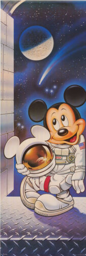 DOOR POSTER :   MICKEY MOUSE - ASTRONAUT  -    FREE SHIPPING !   RAP1 C