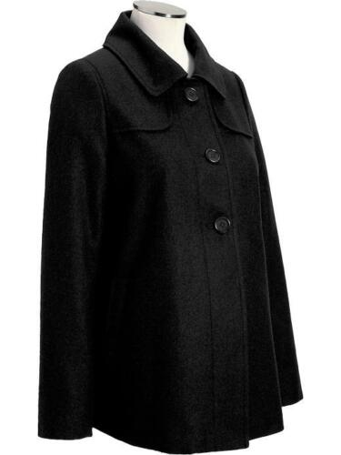 NEW W TAG OLD NAVY WOOL BLEND LINED MATERNITY SWING COAT JACKET