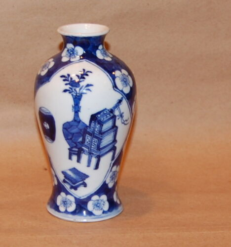 Chinese Porcelain Blue White Prunus Design and Antiques Objects Small Vase