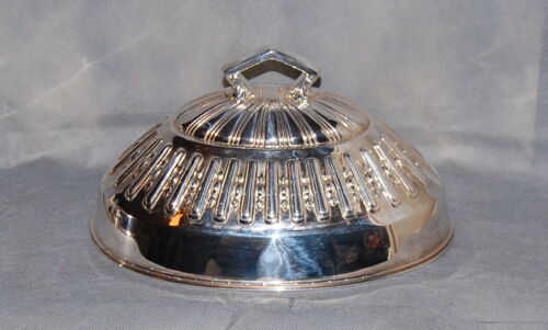 Smith Silver Co. Bridgeport CT Elaborate Silverplate Food Dome Meat Cover 12""
