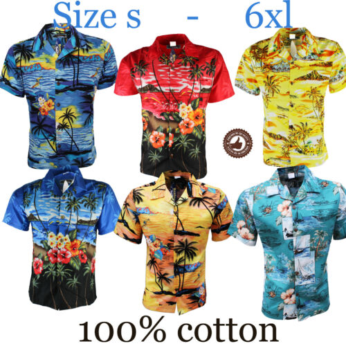 MENS HAWAIIAN SHIRT STAG BEACH HAWAII ALOHA PARTY SUMMER HOLIDAY FANCY S TO 6XL <br/> 100% Cotton! High quality! 5000+ Sold!!!! Sale !!!!