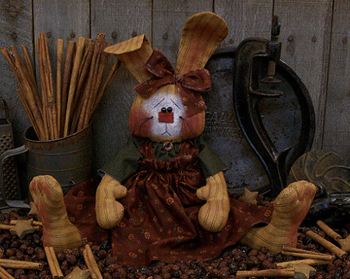 PATTERN Primitive Spring Easter Raggedy Bunny Rabbit Doll FREE SHIPPING TBP