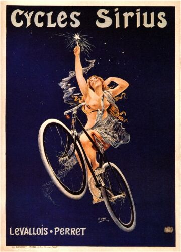 """24x36 /""""Cleveland Cycles/"""" 1890s Classic Cleveland Indian Bicycle Poster"""