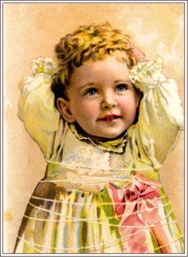Pinkie Beautiful Child Victorian Trade Cards Poster Art Print Advertisement