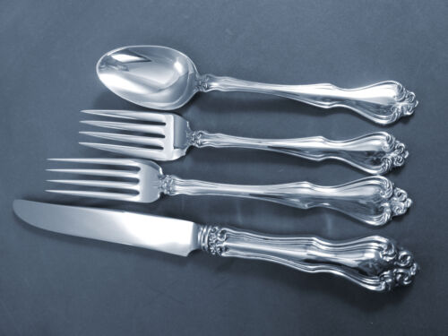 GEORGE & MARTHA-WESTMORLAND STERLING 4 PC PLACE SETTING(S)-FRENCH BLADE