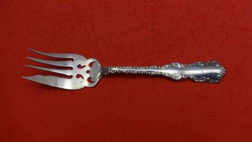 """Louis XV by Whiting Sterling Silver Cold Meat Fork Pierced 7"""""""