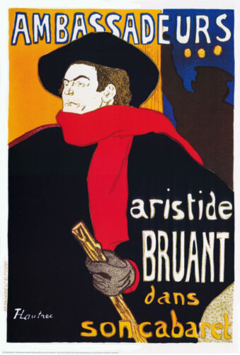 POSTER :ART : AMBASSADUERS - by TOULISE-LAUTREC - FREE SHIPPING  #1295  RC18 H