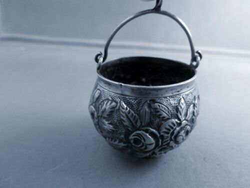 REPOUSSE-COIN SILVER TEA STRAINER