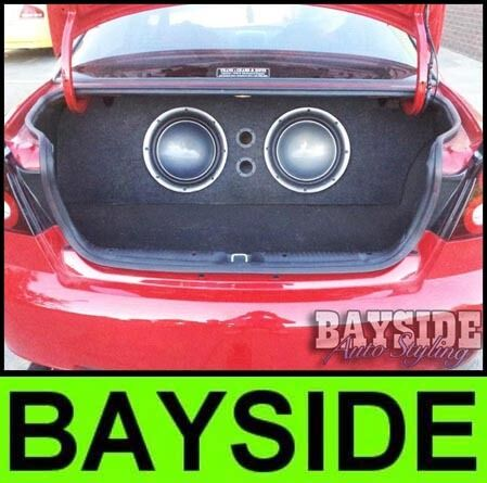 """VT VX VY VZ Holden Commodore 12inch sub custom boot install 12"""" subwoofer box"""