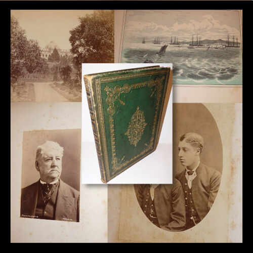 AUSTRALIA Brisbane 1881 Photo Album  Visit Squadron Prince of Wales Binding Foto