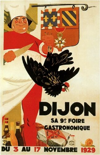 1900's French Dijon sa 9 Foire Food & Wine Advertisement Art Poster Print