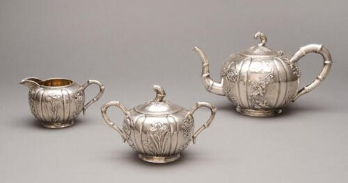 Chinese Export Sterling Silver Tea Set Qing Dynasty Shanghai