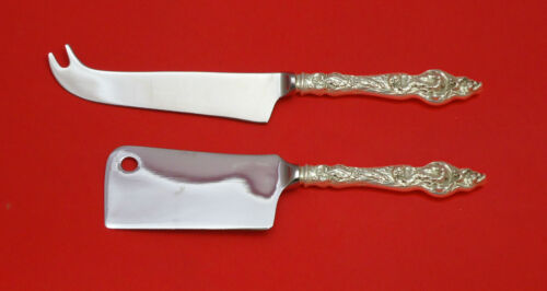 Les Six Fleurs by Reed & Barton Sterling Silver Cheese Serving Set 2P HHWS Custm