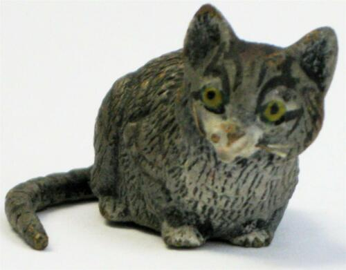 Antique Cold Painted Austrian Unsigned Bergman Tabby Bronze Cat