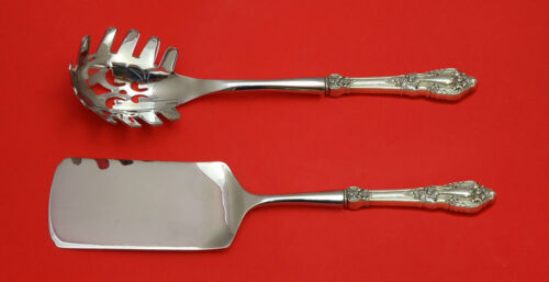 Eloquence by Lunt Sterling Silver Italian Pasta Server Set 2pc HHWS  Custom Made