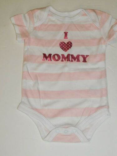 Infant Girl 0 3 6 9 Months Outfit Newborn Baby I Love (Heart) Mommy One Piece