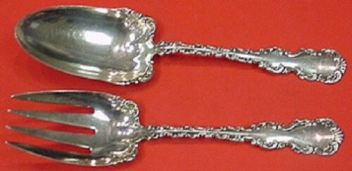 """Louis XV by Whiting Sterling Silver Salad Serving Set AS 9"""""""