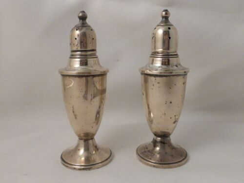 """Empire Sterling Set of Salt and Pepper Shakers - 4 1/2"""""""