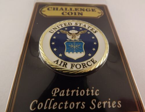 "CHALLENGE COIN, NEW UNITED STATES AIR FORCE Enameled PATRIOTIC 1-5/8""Other Militaria - 135"