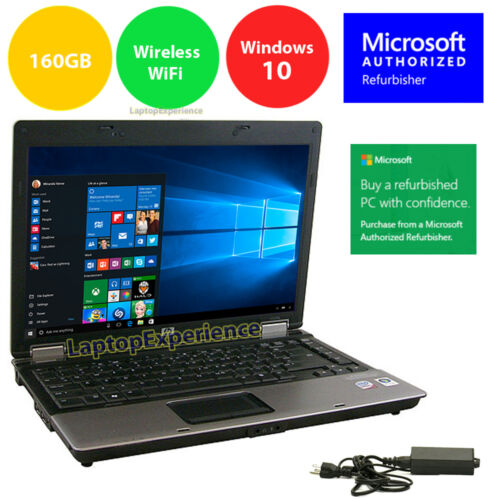 "HP LAPTOP NOTEBOOK PC WINDOWS 10 WIN INTEL CORE 2 DUO 4GB 14.1"" HD DVD COMPUTER <br/> NEW Windows 10 64bit with Restore Partition"