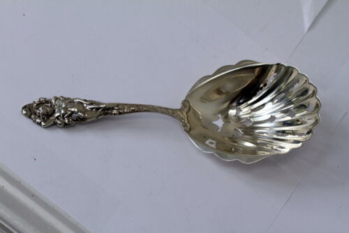 Antique Reed & Barton Love Disarmed Sterling Serving Spoon Art Nouveau