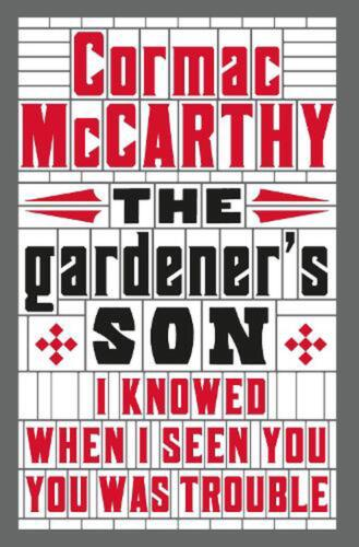 Gardener's Son by Cormac Mccarthy (English) Paperback Book Free Shipping!