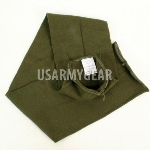 """US Military Army USGI 100/% WOOL SCARF OD Green 48/"""" Tube Double Knit NEW"""