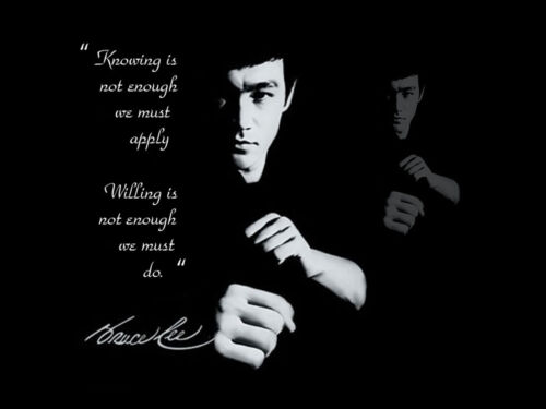 Bruce Lee  kung fu quote  film poster art print canvas