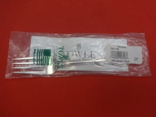 """Fontana by Towle Sterling Silver Salad Fork 6 1/2"""" New"""