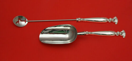 Romance of the Sea by Wallace Sterling Silver Bar Set 2pc HHWS  Custom Made