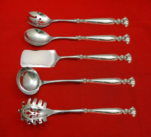 Romance of the Sea by Wallace Sterling Silver Hostess Set 5pc HHWS  Custom Made