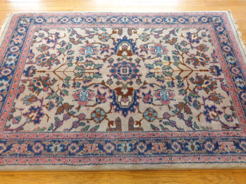 4 x 6 Indian Tabriz Rug with Tree of Life Design at Each End