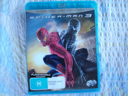BLU-RAY DISC - SPIDER-MAN 3 - RATED M - FREE POST