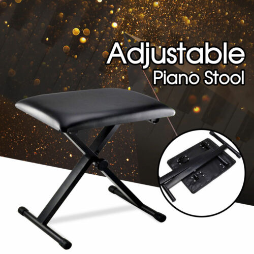 Adjustable 3 Way Folding Keyboard Piano Stool Bench Seat Chair POST FROM SYD