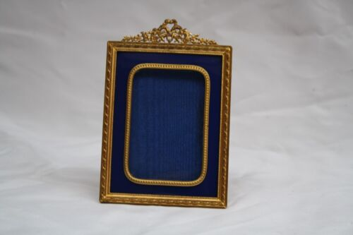 MAGNIFICENT 1900'S FRENCH BRONZE ENAMELED PICTURE FRAME