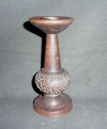 AFRICAN handcrafted wooden CANDLE HOLDER ELEPHANT, GIRAFFE