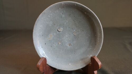 Fine Korean Koryo Dynasty Crackle Celadon Footed Bowl Plate 11th ~ 13th Century